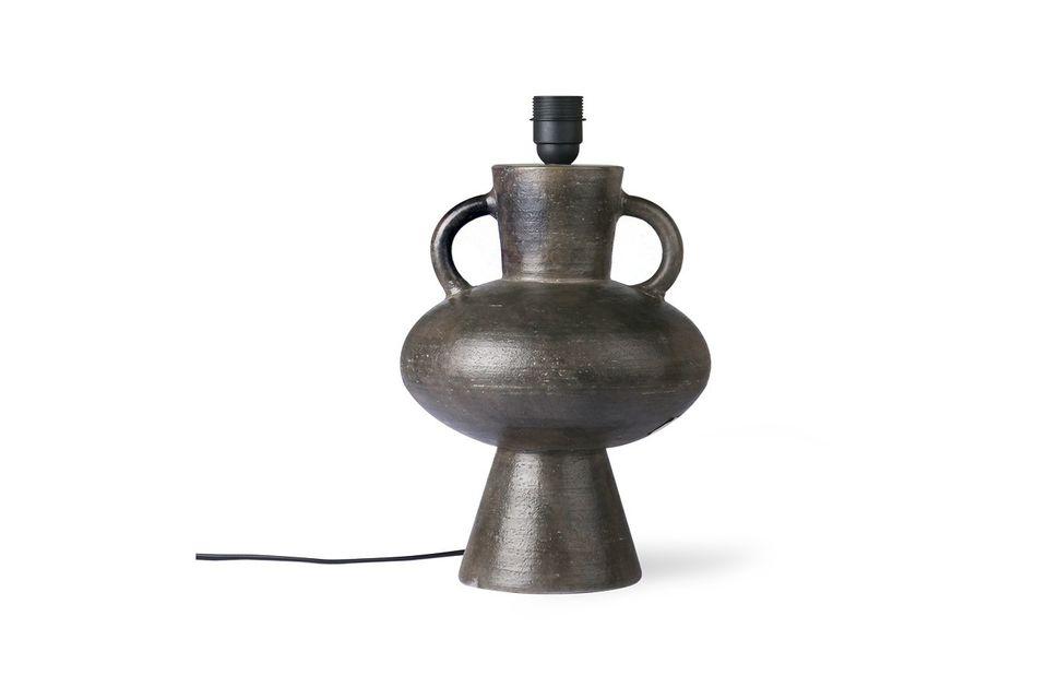 Lámpara de pie de gres Curgyen antracita tamaño L HK Living