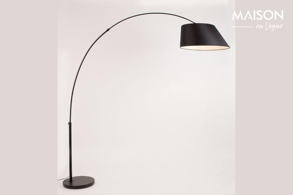 Lámpara de piso Arc negro - 4