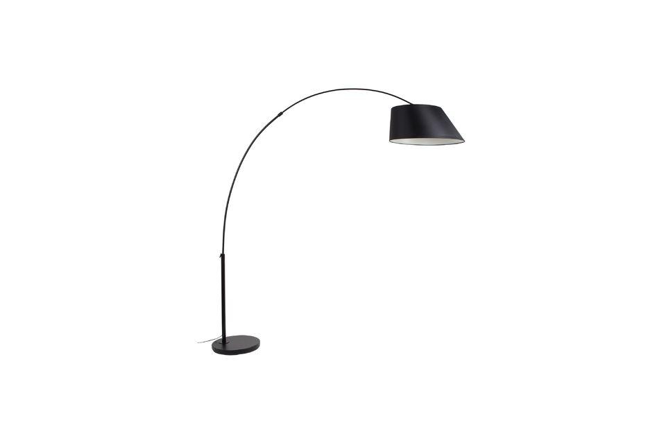 Lámpara de piso Arc negro - 5