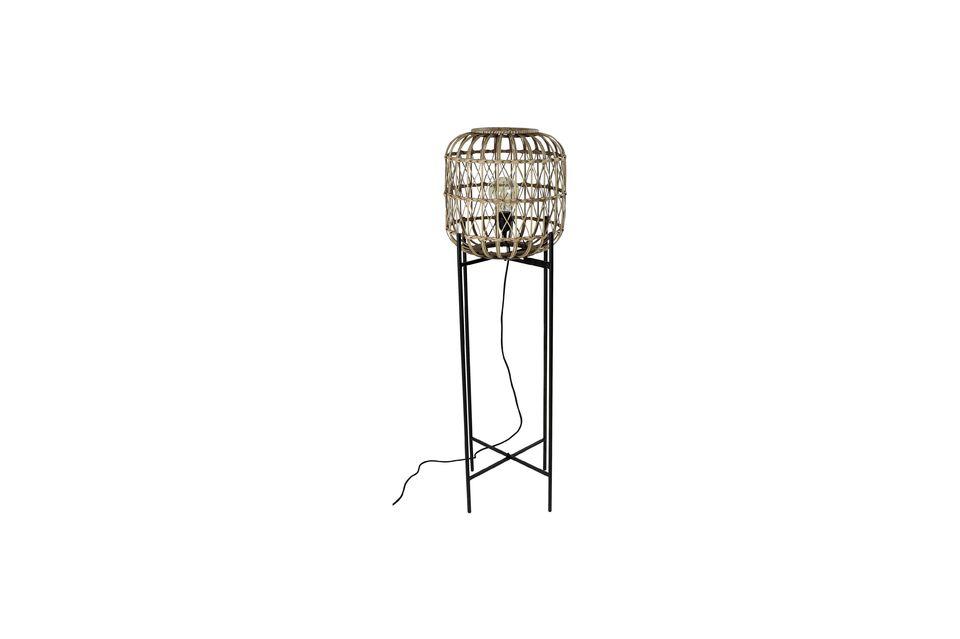 Lámpara de piso de bambú Quinta Pomax