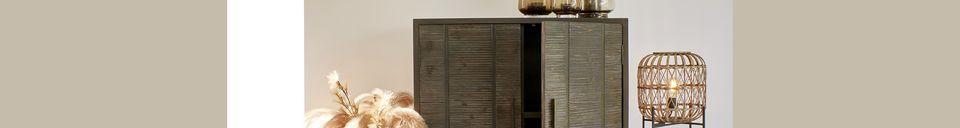Descriptivo Materiales  Lámpara de piso de bambú Quinta