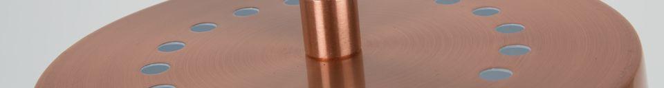 Descriptivo Materiales  Lámpara de piso de cobreBuckle Head
