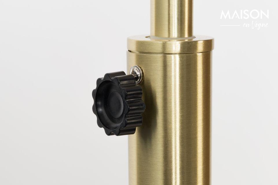 Lámpara de piso de metal Bow con acabado de latón - 3