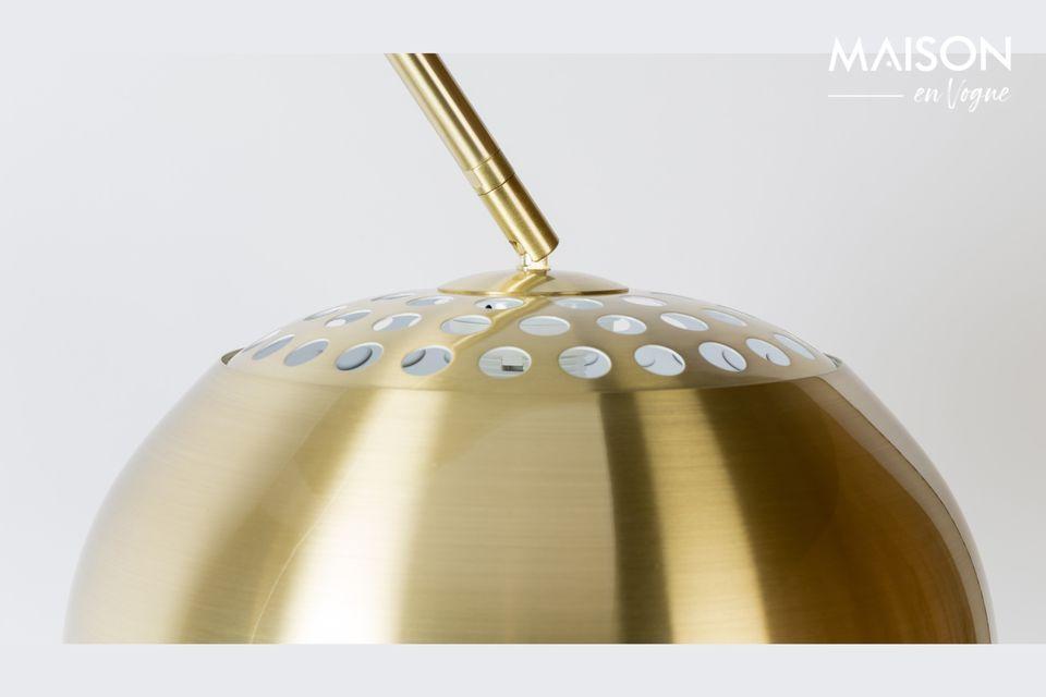 Lámpara de piso de metal Bow con acabado de latón - 4