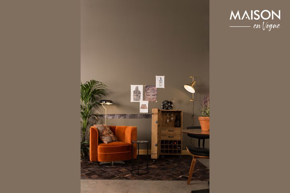 Elegante lámpara de piso de metal