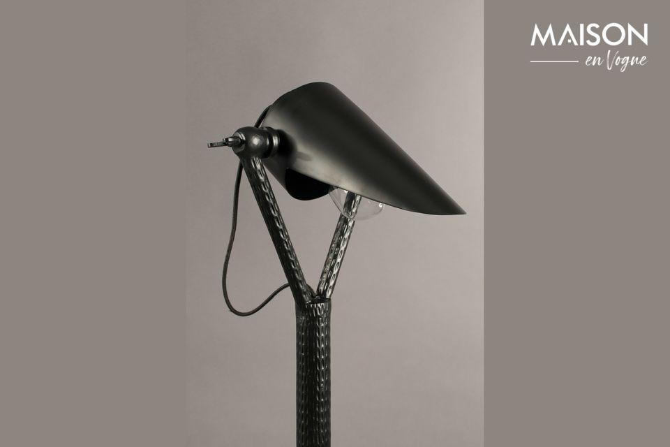 Lámpara de piso Falcon negro - 5