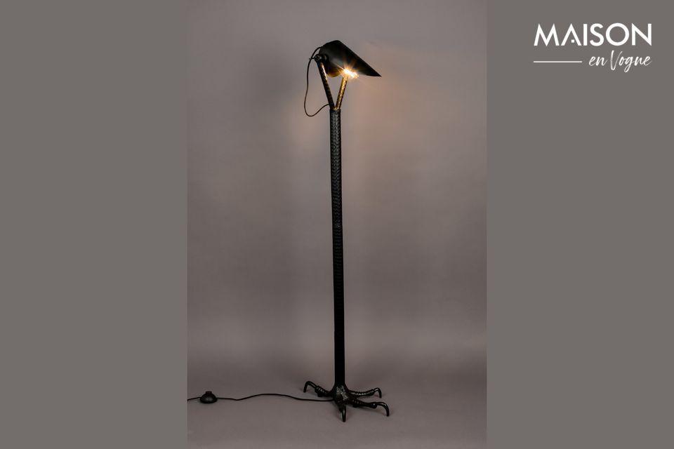 Lámpara de piso Falcon negro Dutch Bone