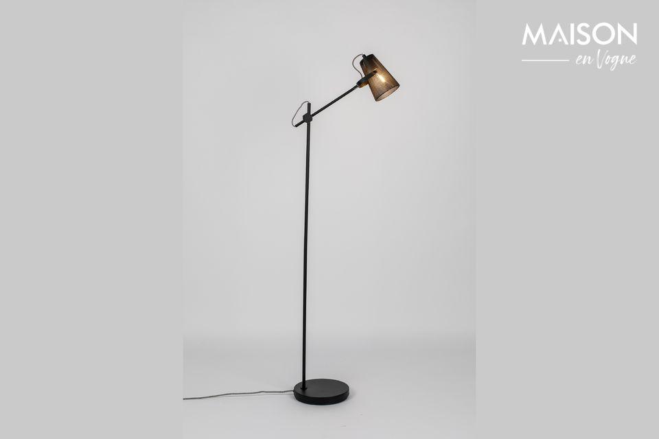 Lámpara de piso Fokus negro White Label