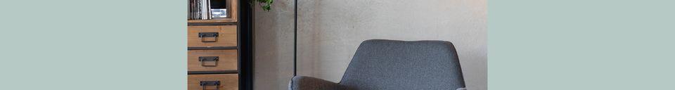 Descriptivo Materiales  Lámpara de piso Fokus negro