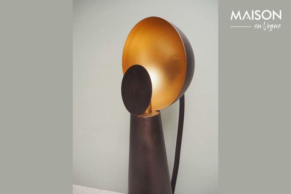 Esta lámpara de mesa de metal negro simula el juego Hide & Seek