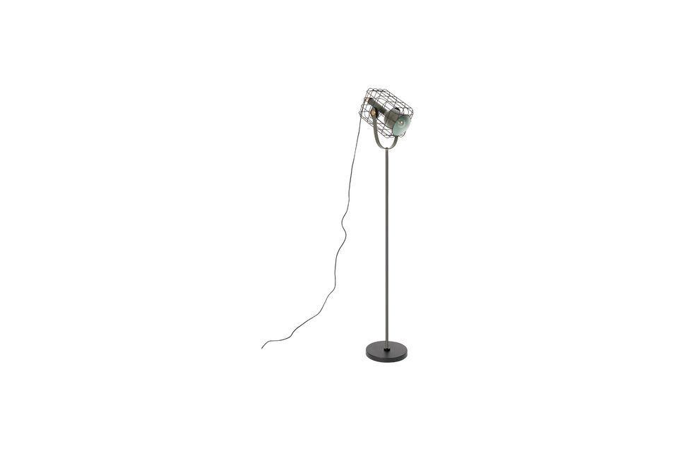 Lámpara de piso Jaula negra - 4