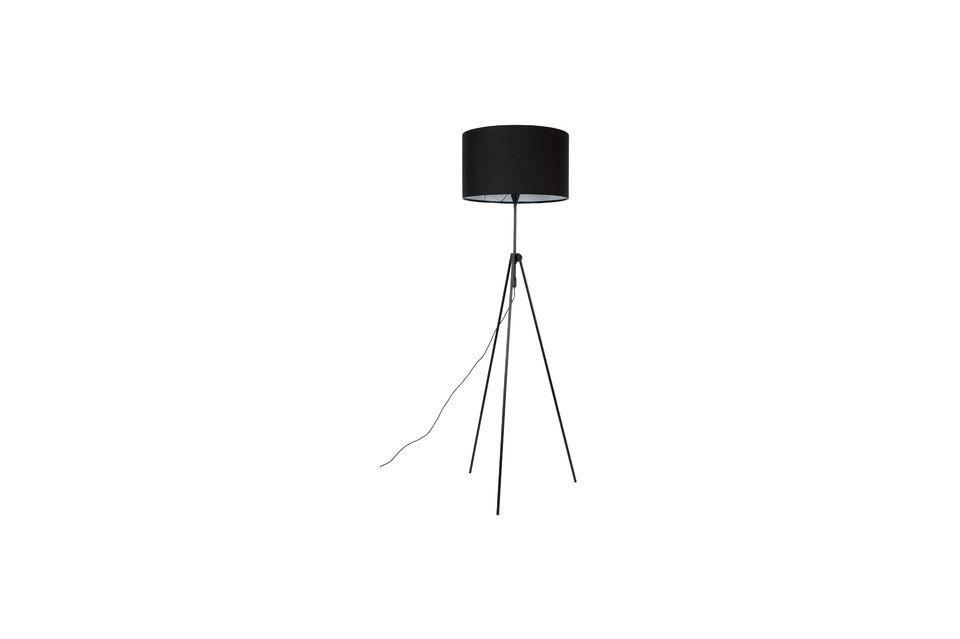 Lámpara de piso Lesley negro - 4