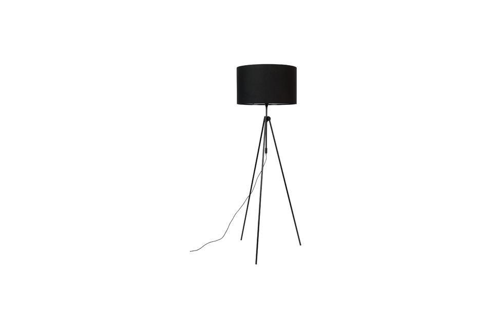 Lámpara de piso Lesley negro Zuiver