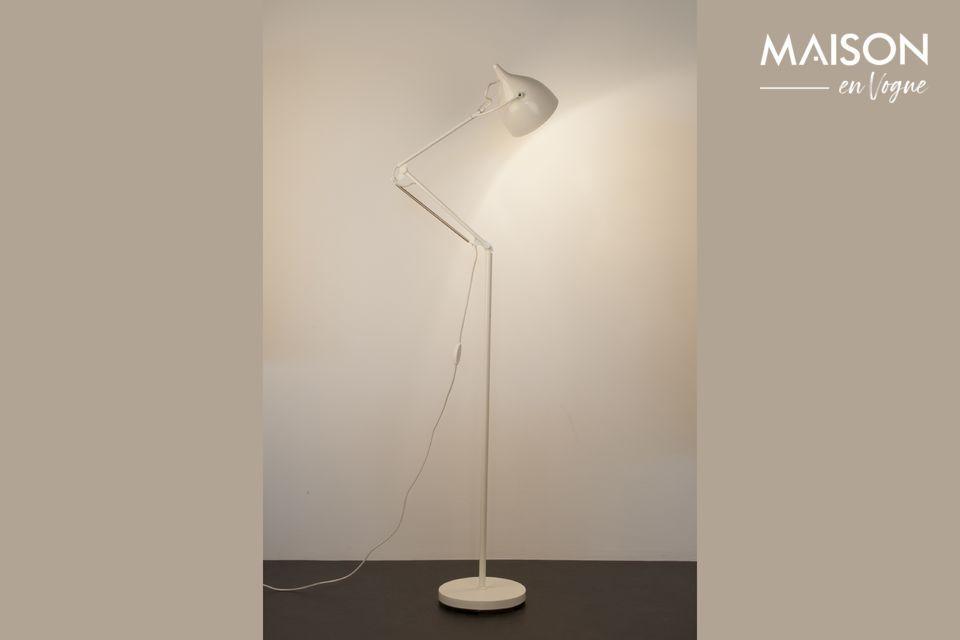 Lámpara de piso Reader blanco mate - 8