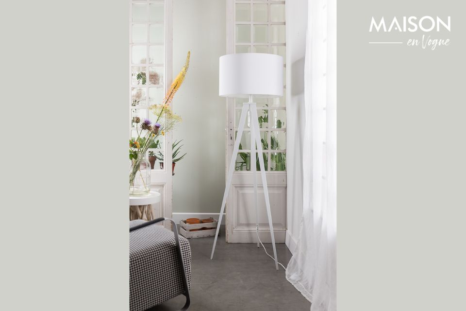 Lámpara de piso Trípode blanco Zuiver