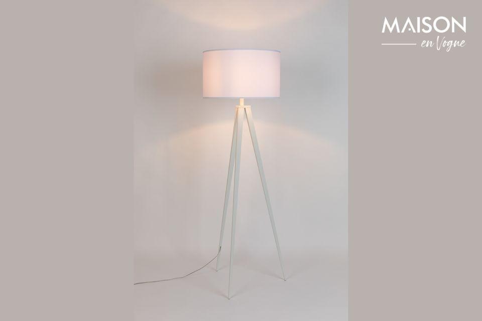 Lámpara de piso Trípode blanco - 5