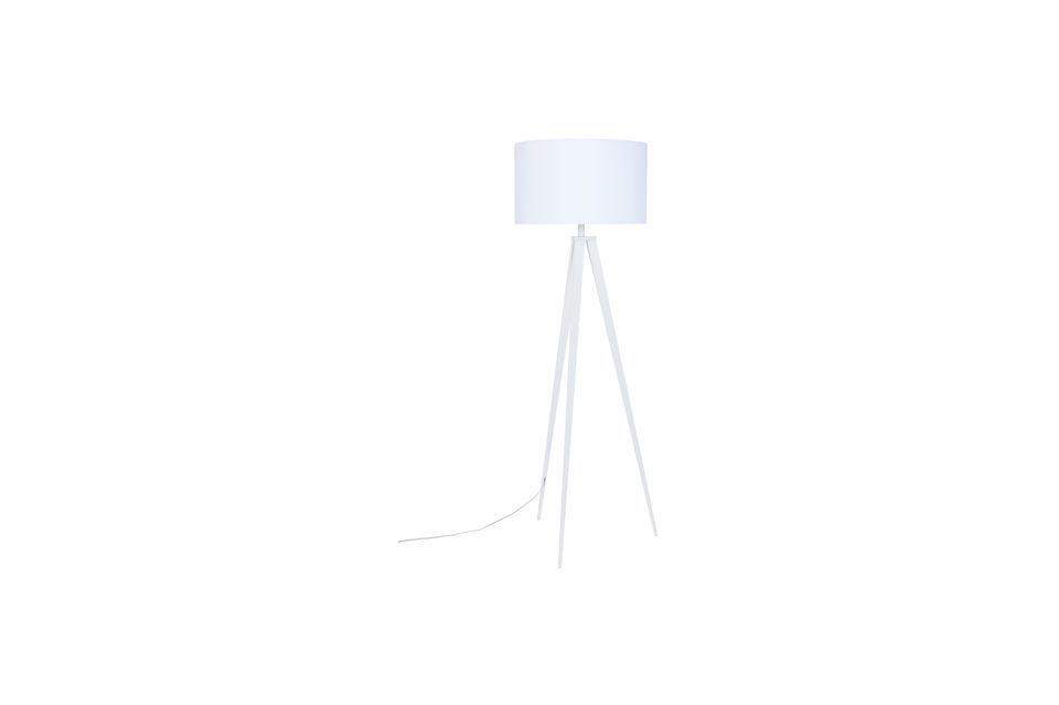 Lámpara de piso Trípode blanco - 6