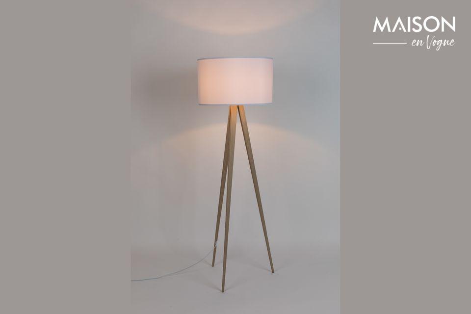 Lámpara de piso Trípode Madera Blanca Zuiver