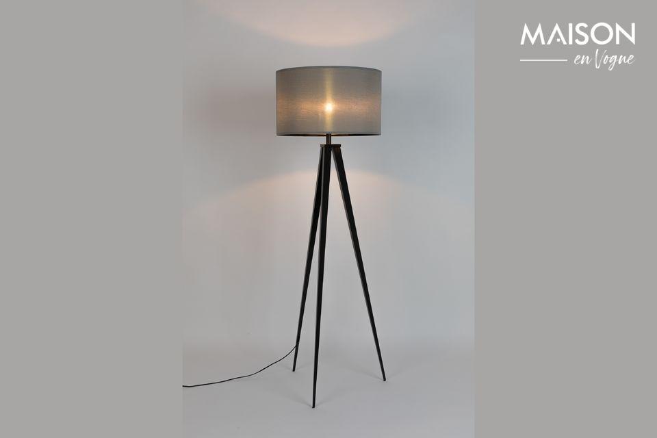 Lámpara de piso Trípode negro gris Zuiver