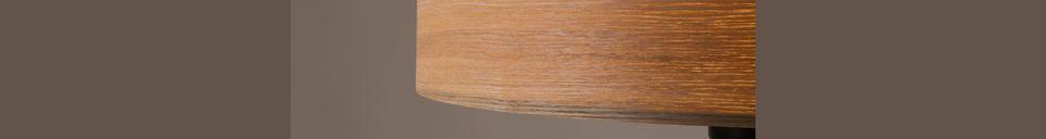 Descriptivo Materiales  Lámpara de piso Woodland