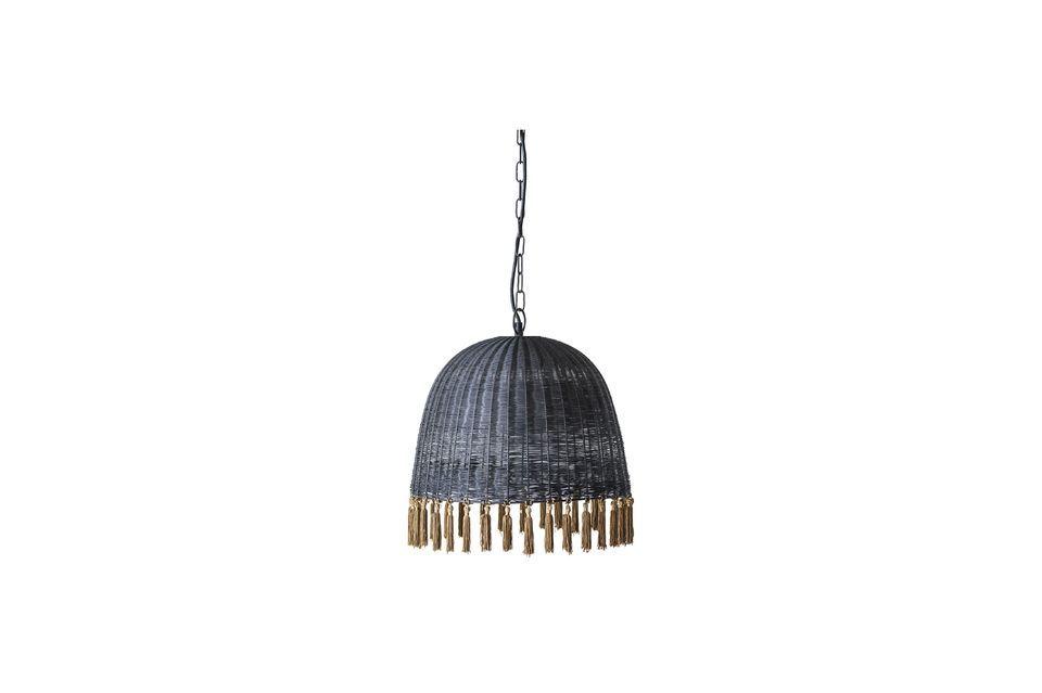Lámpara de suspensión de seda y metal de Marsa Bloomingville