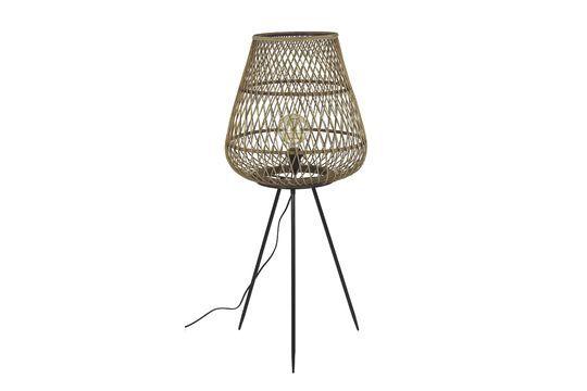 Lámpara Tao de bambú trenzado