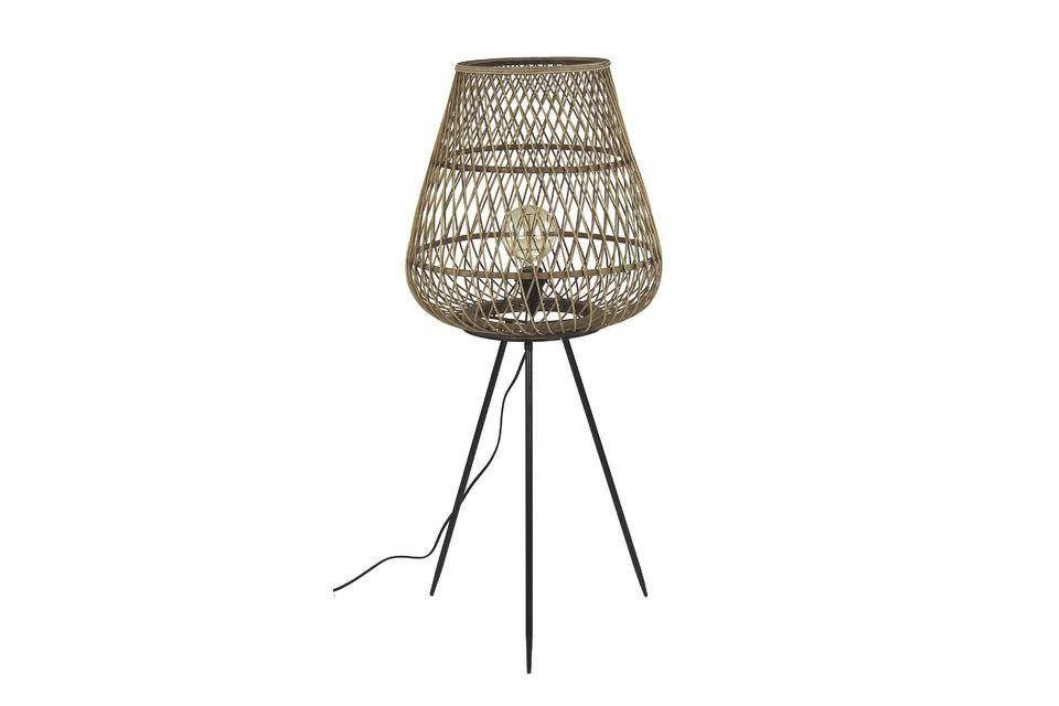 Lámpara Tao de bambú trenzado Pomax