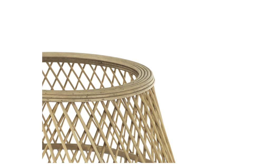 Hermosa lámpara de bambú natural