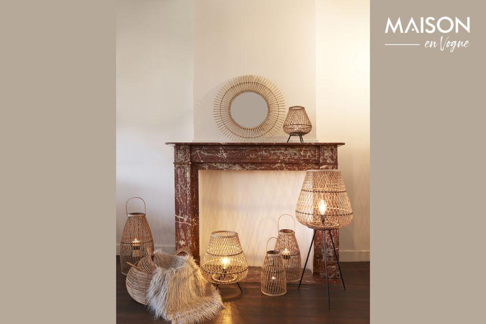 Trae un toque de inspiración colonial con esta lámpara de bambú