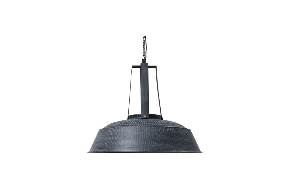 Lámpara Workshop XL rústica negra mate HK Living