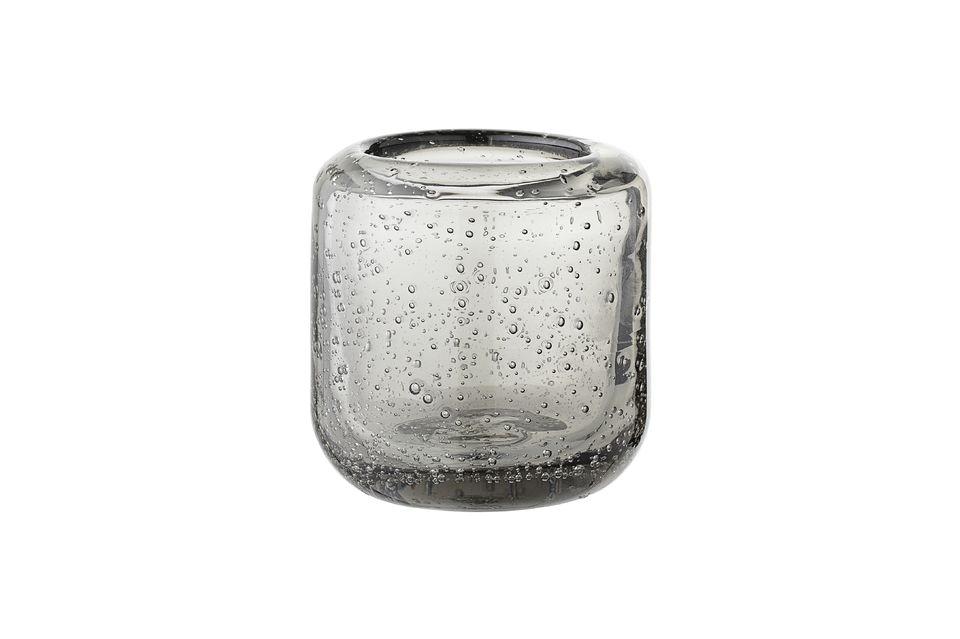 Linterna de cristal gris Luzillat para la vela votiva Bloomingville