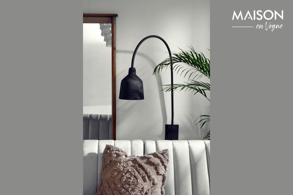 Luz de pared City H 116 cm negro mate Nordal