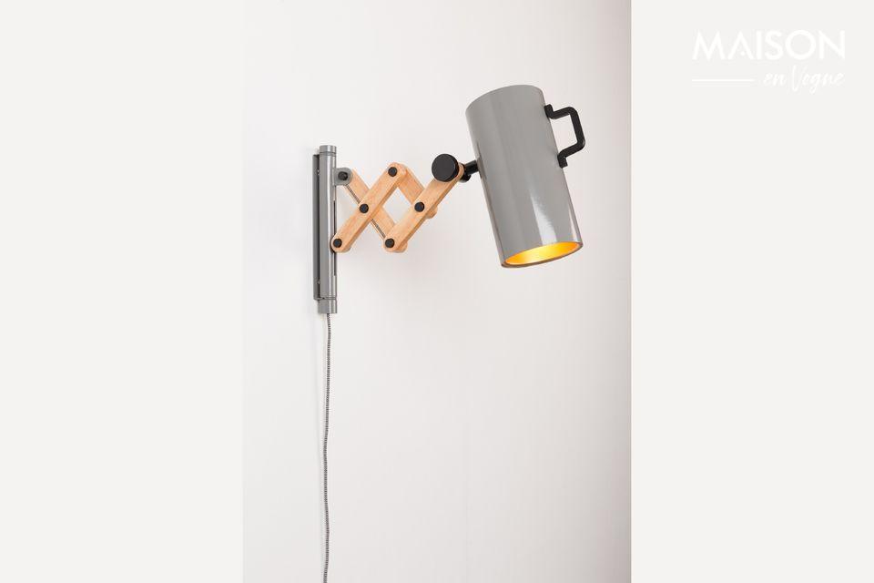 Luz de pared Flex gris Zuiver