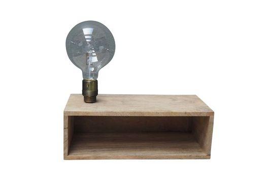 Luz de pared y estante de madera Arsy Clipped