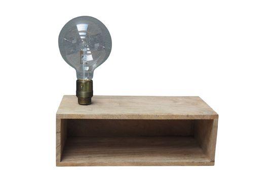 Luz de pared y estante de madera Arsy