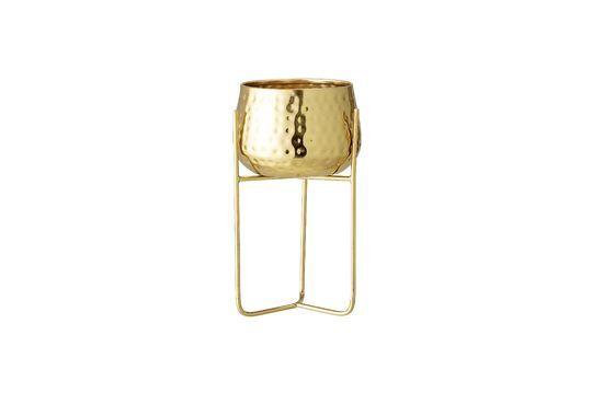Maceta Monthaut en metal dorado Clipped