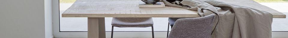 Descriptivo Materiales  Mantel de lino y algodón