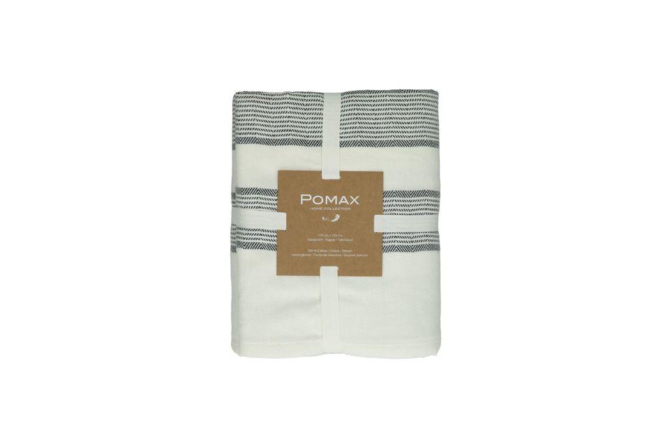 Con su grueso algodón crudo tejido en espiga, el mantel de Tibia parece haber existido siempre