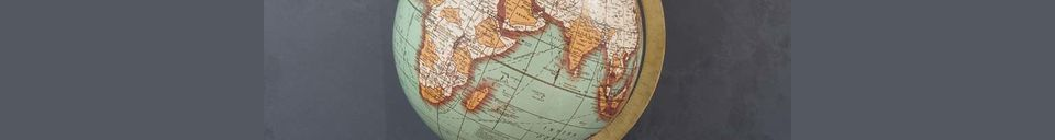 Descriptivo Materiales  Mapa mundial de base de madera antigua Riverie