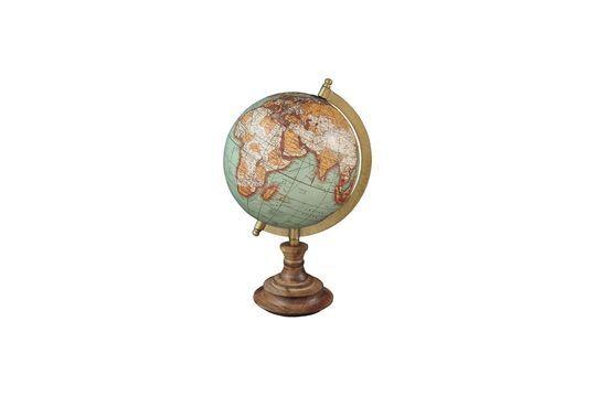 Mapa mundial de base de madera antigua Riverie