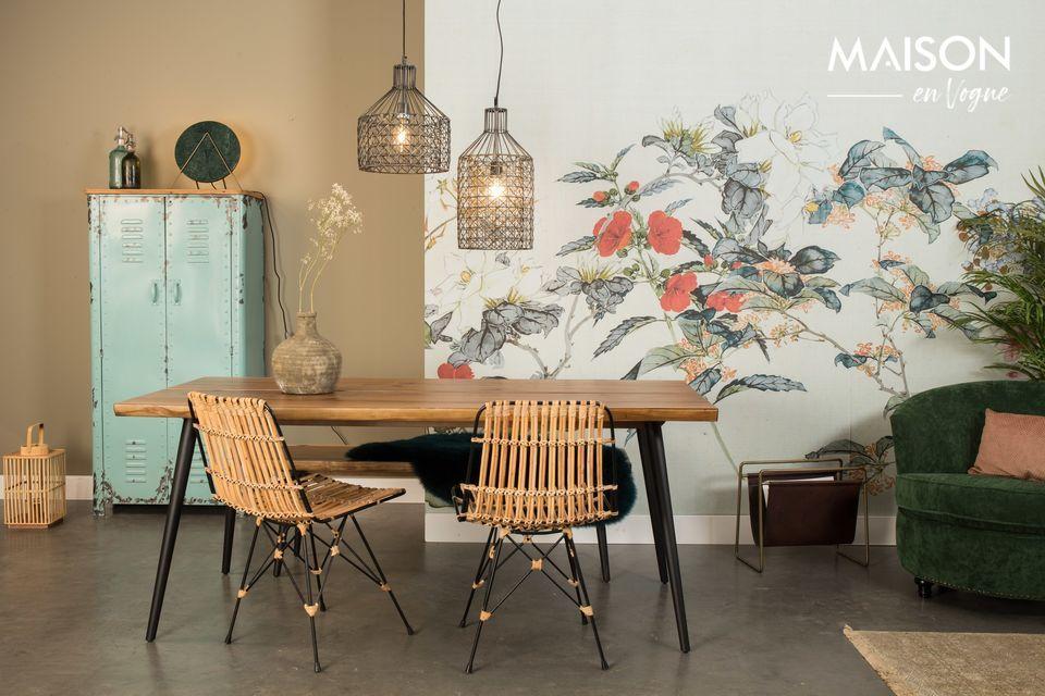 Dutchbone presenta este modelo de mesa Alagon con un diseño elegante y natural