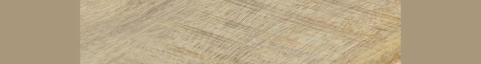 Descriptivo Materiales  Mesa alta Bistro en madera de mango