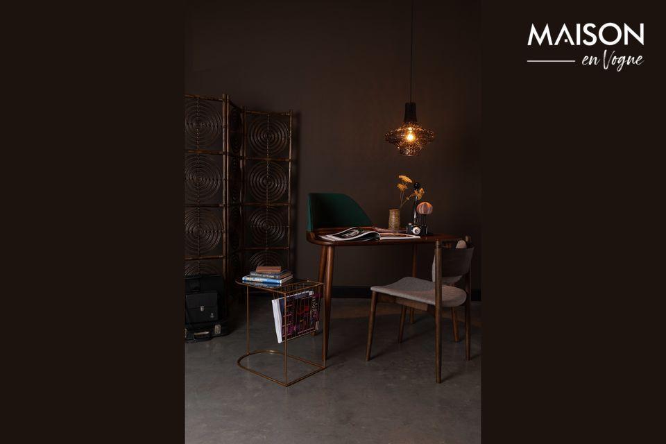 Mesa auxiliar con estante de revistas Eileen Dutch Bone