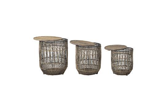 Mesa auxiliar de bambú Vrocourt Clipped