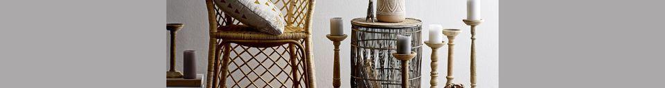Descriptivo Materiales  Mesa auxiliar de bambú Vrocourt