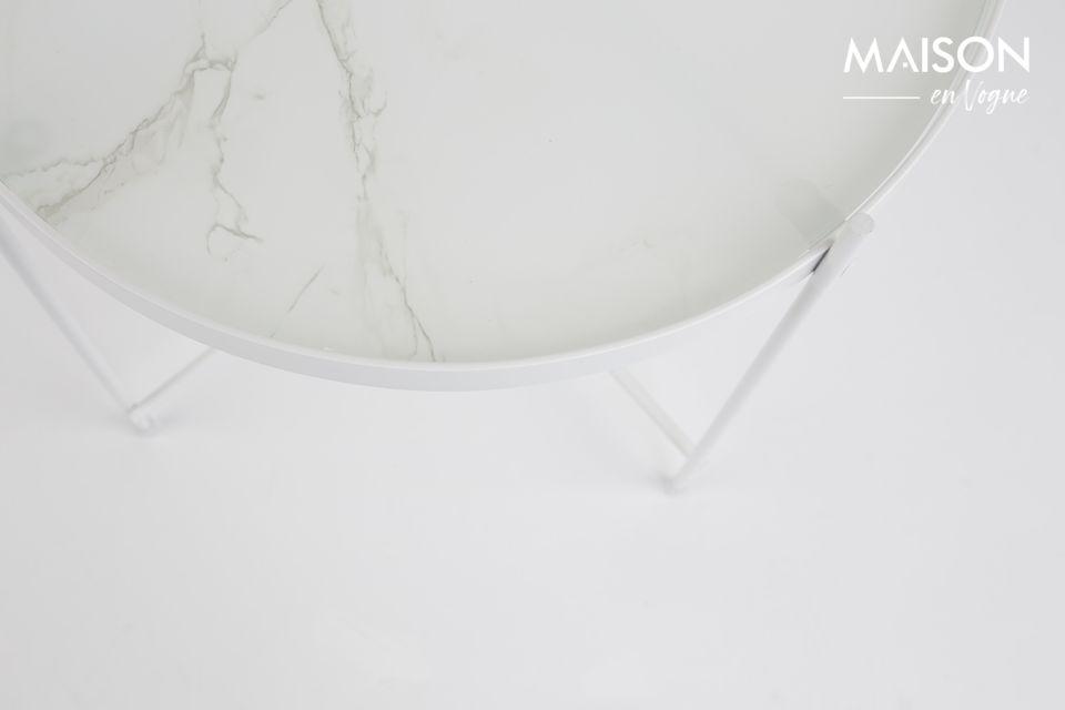 Mesa auxiliar de mármol blanco Cupido - 4