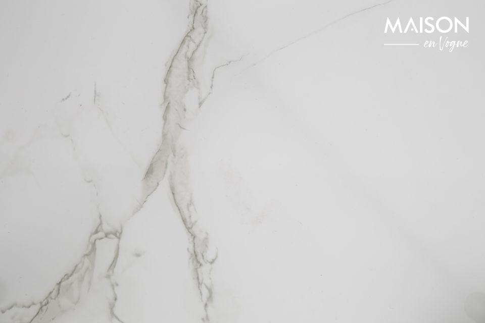 Mesa auxiliar de mármol blanco Cupido - 5