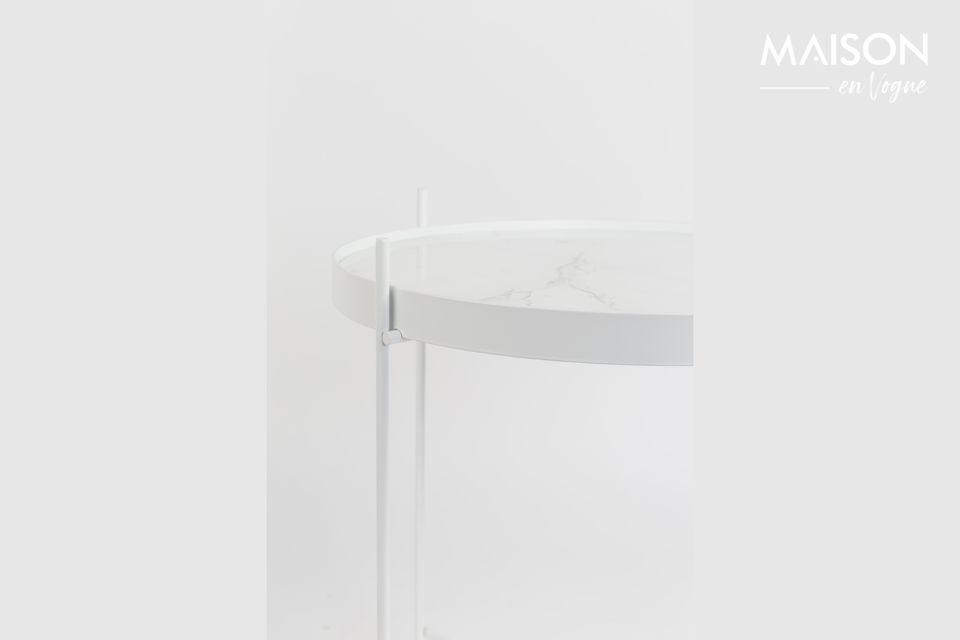 Mesa auxiliar de mármol blanco Cupido - 6