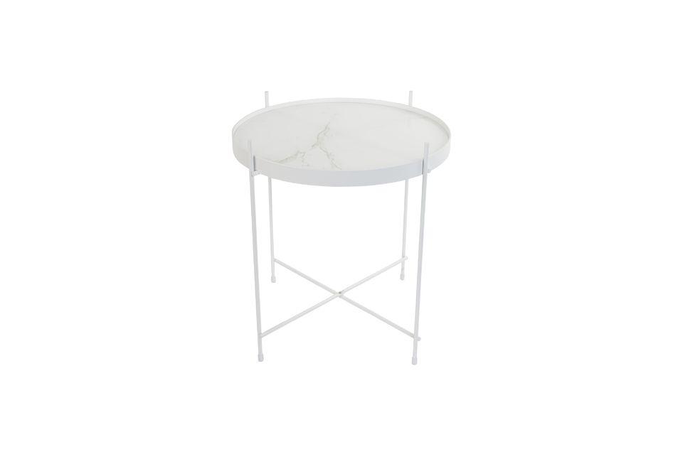 Mesa auxiliar de mármol blanco Cupido - 7