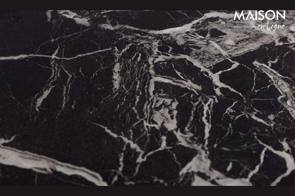 Mesa auxiliar de mármol negro Cupido - 5